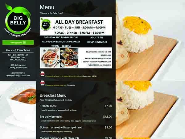Restaurant website melbourne